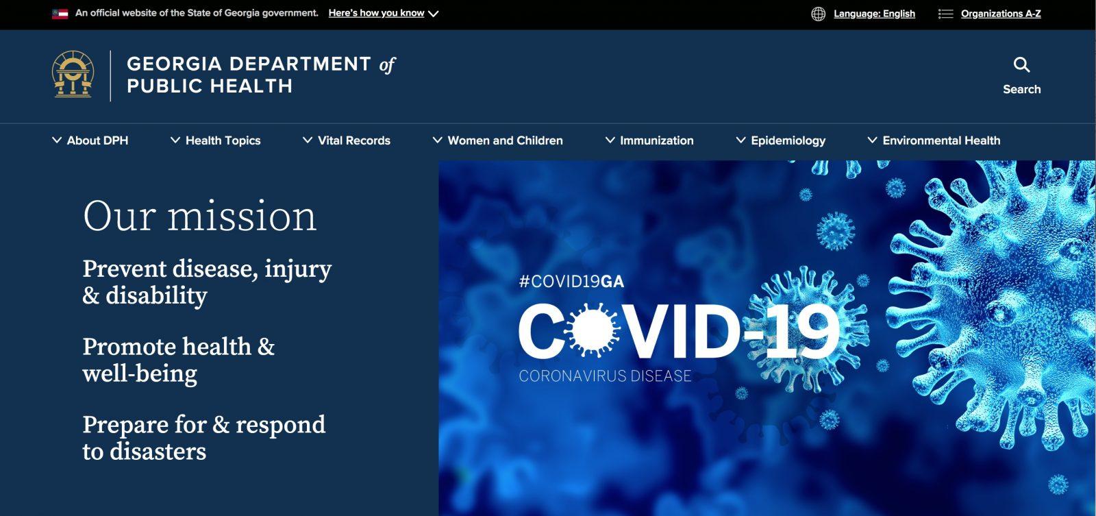Link to GA DPH Website